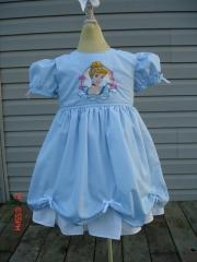 Dress with Cinderella embroidery design