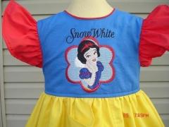 Snow White embroidered dress a clother look
