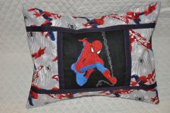 Pillow with Spiderman embroidery design