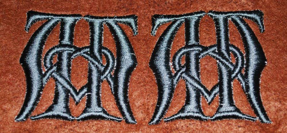 Monogram embroidery design finished