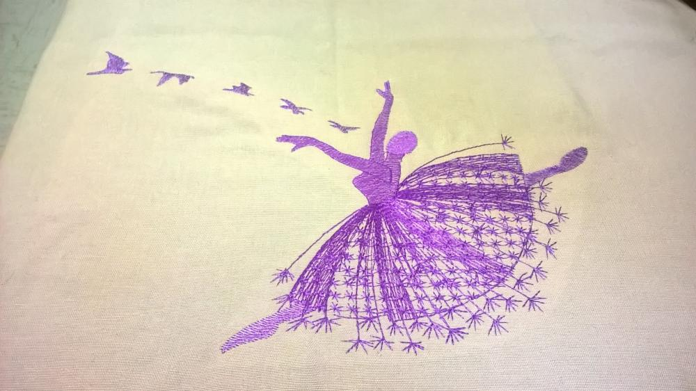 Ballet free embroidery design