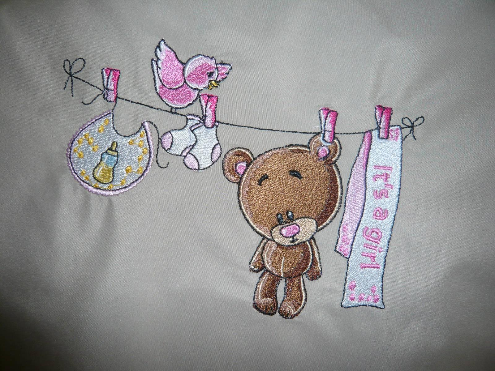It's a girl machine embroidery design