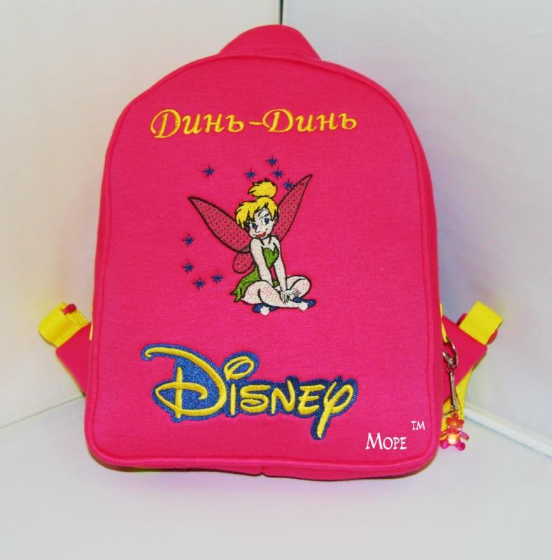 Backpack with Tinkerbell embroidery design