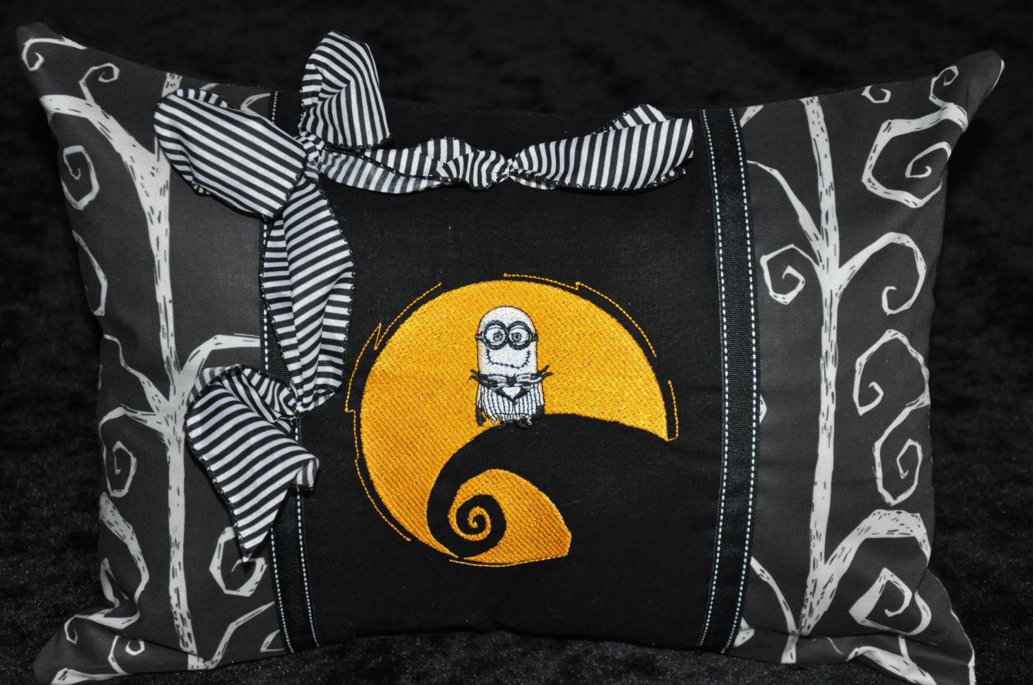 Nightmare Before Christmas minion embroidered pillow
