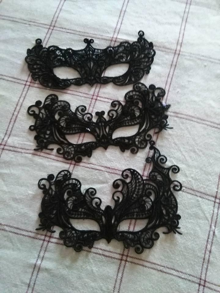 Masks collection embroidery designs