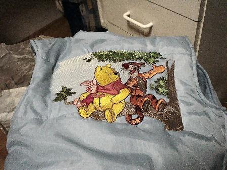 Winnie Pooh embroidered design
