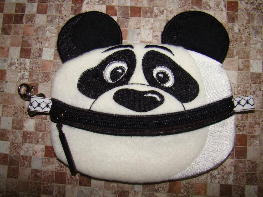 Panda applique needle bar free embroidery design