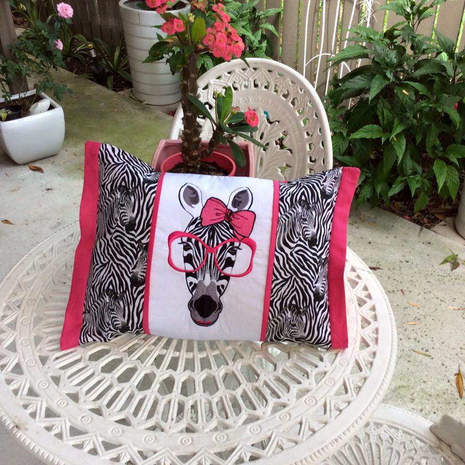 Zebra free embroidery design animals