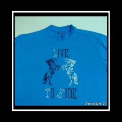 T-shirt with with Black horse free embroidery designs