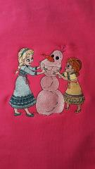 Anna and Elsa embroidered design