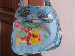 Bag with Winnie Pooh embroidery design