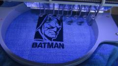 In round hoop Batman embroidery design