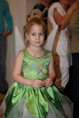 Fairy dress with Tinkerbell embrodiery design