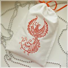 Cotton bag with firebird embroidery design