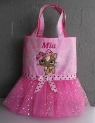 Girl dress with Kitty embroidery design