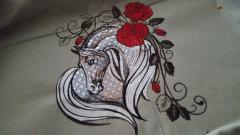 Heart horse free embroidery design