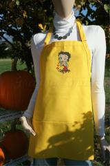Kitchen Apron with Betty Boop embroidery design