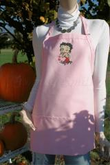 Betty Boop embroidered at apron pink variant