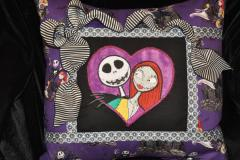 Nightmare Before Christmas pillow with a bow embroidered at pillow