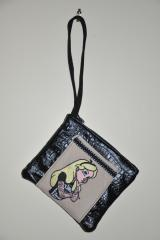 Modern Alice in Wonderland embroidered at purse