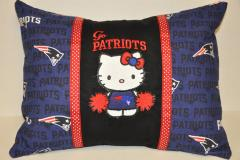 Hello Kitty New England Patriots embroidered at pillow