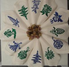 Christmas and NY napkins with free embroidery designs