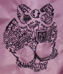 Monster high embroidered logo