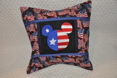 Pillow with Patriotic Mickey Mouse embroidery design