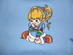 Rainbow Brite dress embroidered