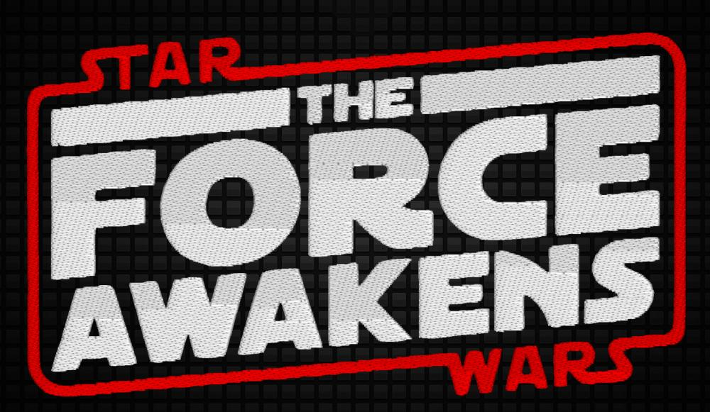 Star Wars The force awaken embroidery design patch