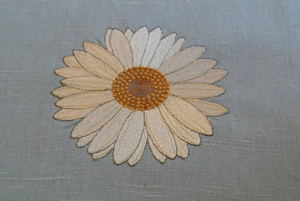 Chamomile free embroidery design