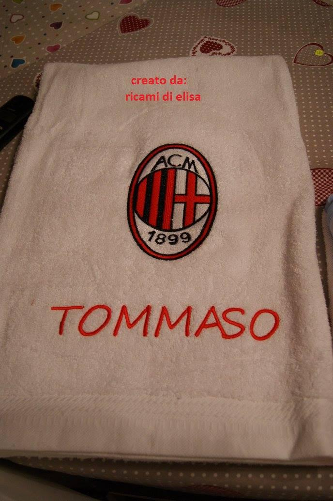 Baby item with AC Milan embroidery design