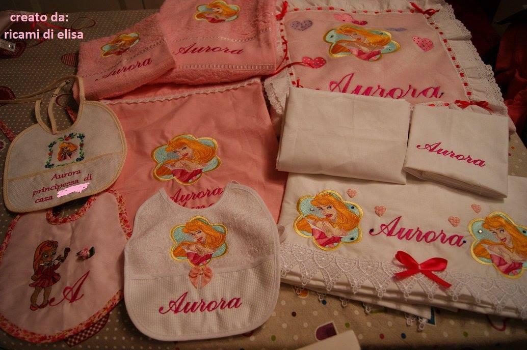 Newborn set with Aurora embroidery design
