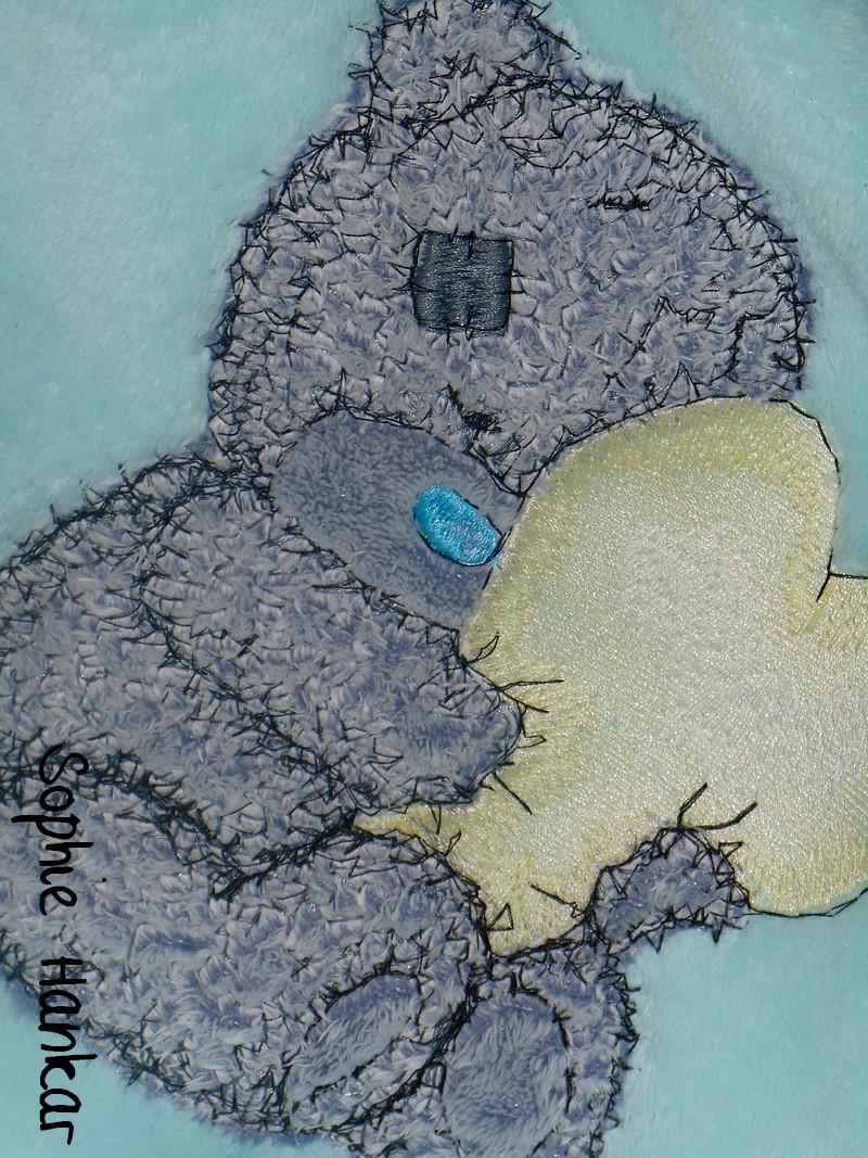 Applied - cute bear embroidery design