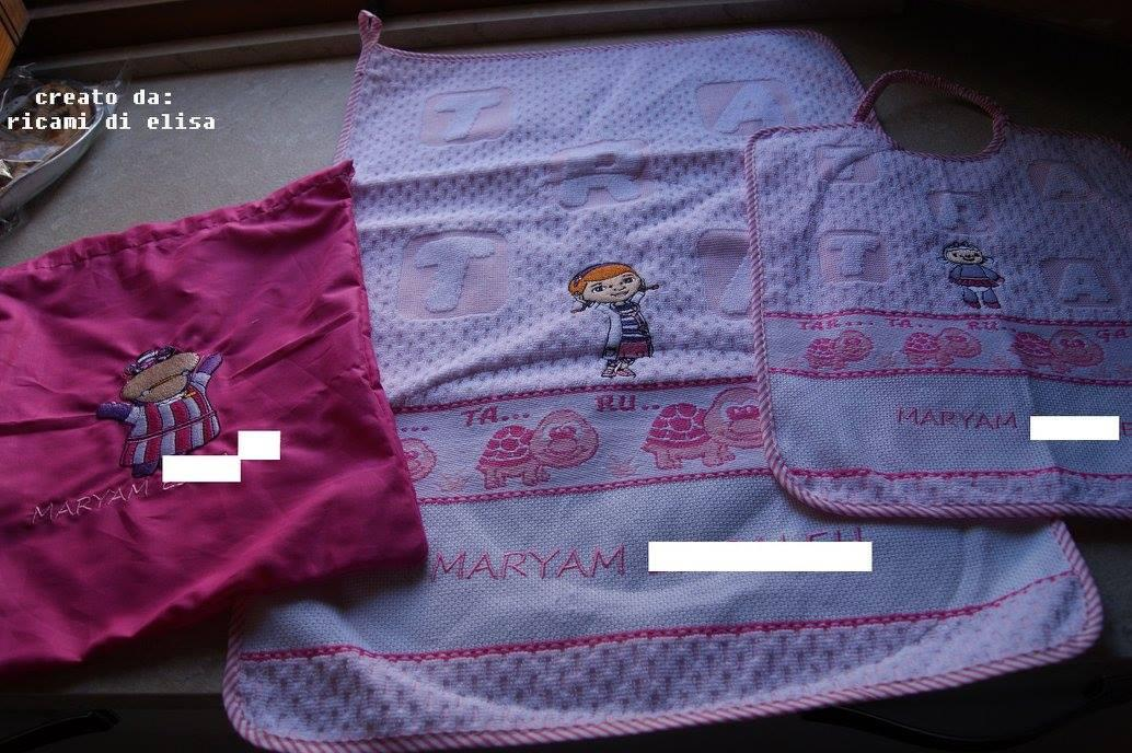 Baby set with Doc McStuffins embroidery design