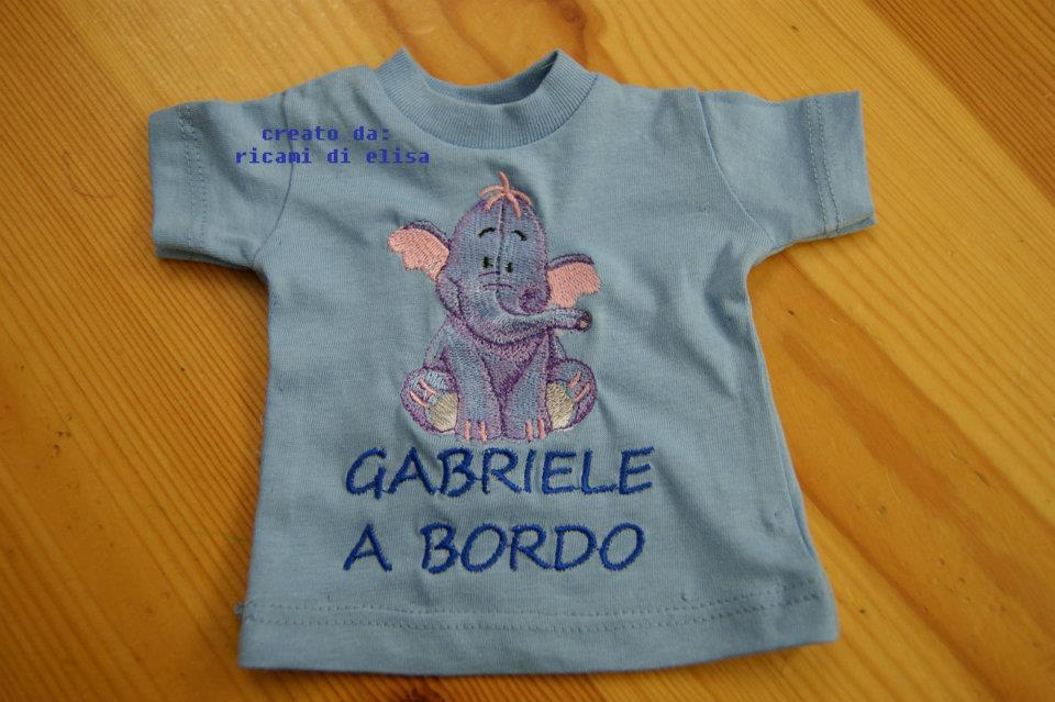 Baby shirt with Heffalump embroidery design