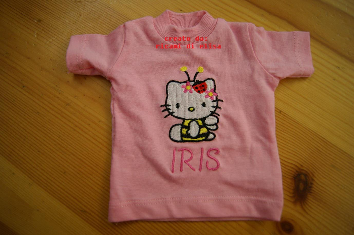 Baby outfit with Hello Kitty Bee embroidery design