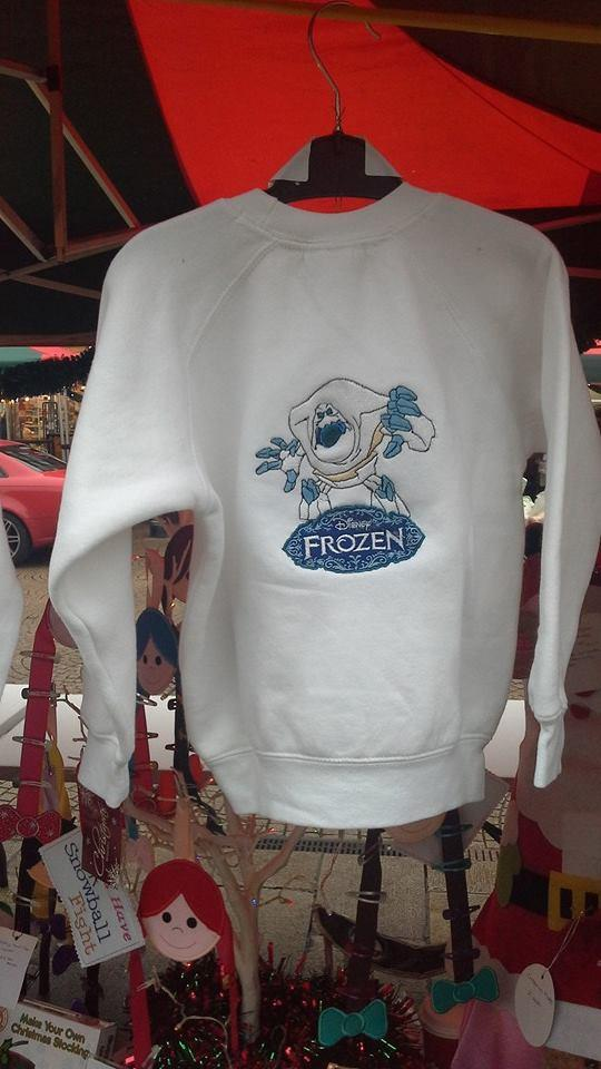 Hoodie with marshmallow embroidery design