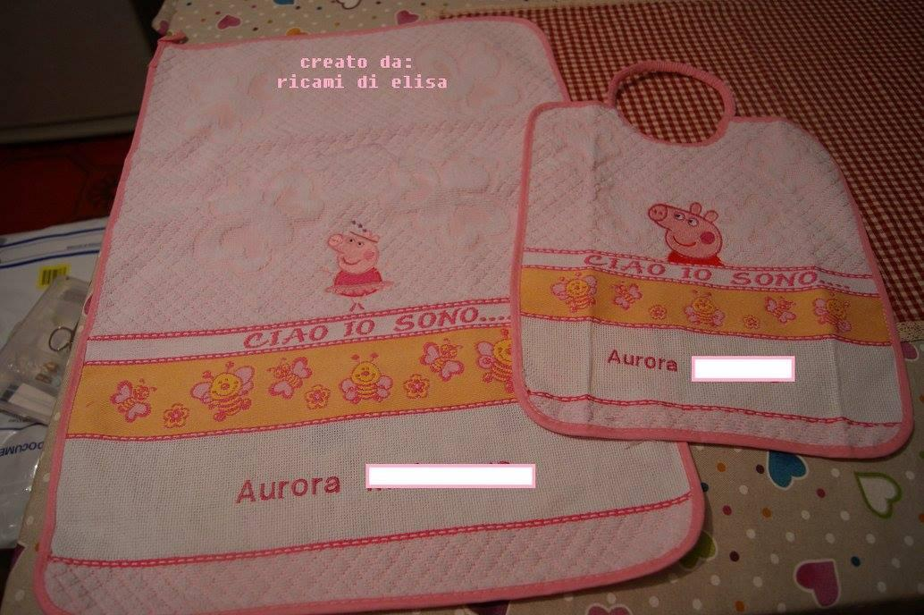Newborn set with Peppa pig embroidery designs
