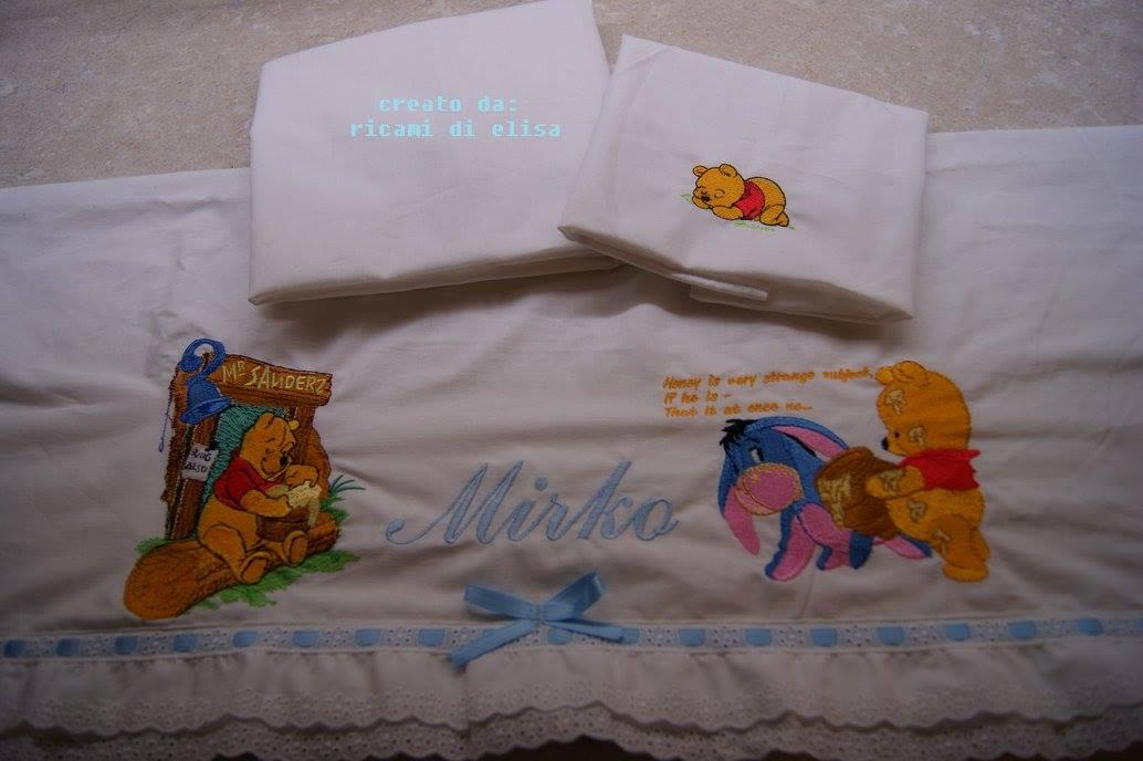 Newborn set with Winnie Pooh and honey embroidery designs
