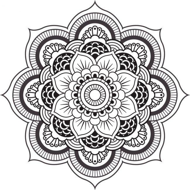 Diseno Mandala Para Colorear 1jpg Projects Machine Embroidery