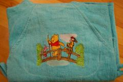 Towel with Winnie Pooh Tigger and Piglet embroidery design