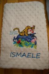 Baby towel with Tigger and Eeyore Hi friend dont sleep embroidery design