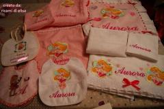 Newborn set with Aurora embroidery design