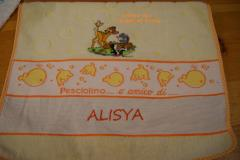 Towel with Bambi and company embroidery design