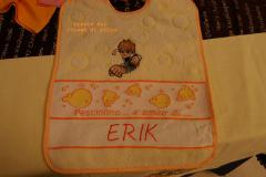 Baby bib with Ben 10 embroidery design