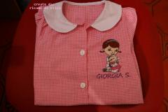 Girl's dress with Doc McStuffins and Lambie embroidery design
