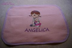 Napkin with Doc McStuffins and Lambie embroidery design