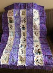 Big quilt with Frozen embroidery design