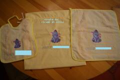 Baby bibs with Heffalump embroidery design